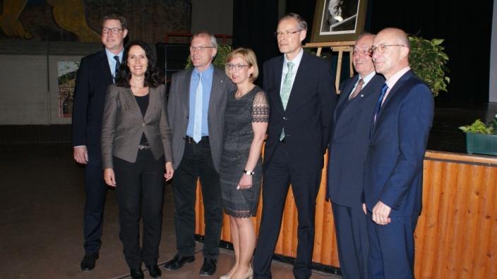 Dirk Bahrouz, Lisa Winkelmeier-Becker, Oliver Krauss, Katja Kröger, Raimund Schink, Bürgermeister Bert Spilles